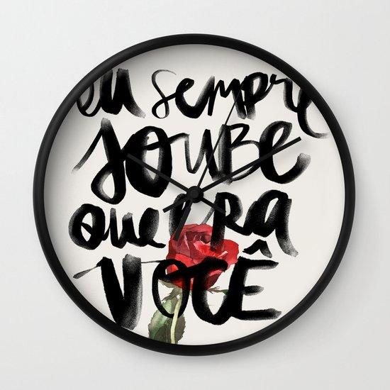 Você Wall Clock