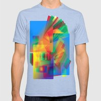 Alluvial Fan Mens Fitted Tee Tri-Blue SMALL