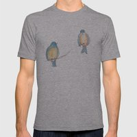 Birds and Bees Mens Fitted Tee Athletic Grey SMALL