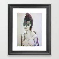 Headbanger Framed Art Print