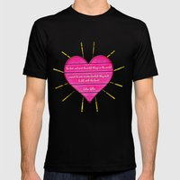 Felt With The Heart Mens Fitted Tee Black SMALL