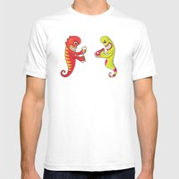 Flesh and Teeth's Mens Fitted Tee White SMALL