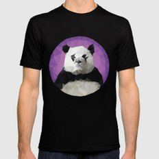 ♥ SAVE THE PANDAS ♥ Mens Fitted Tee Black SMALL