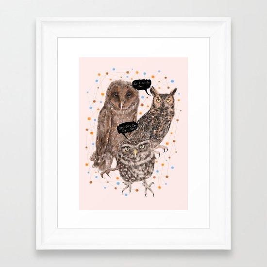 h'Hoo-hoo Framed Art Print