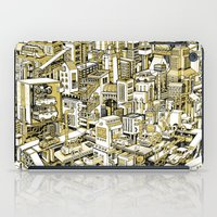 City Machine - Gold iPad Case