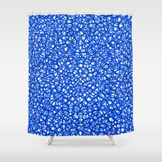 staklo (blues) Shower Curtain