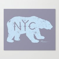 Polar Bear NYC aka Polar Opposites Canvas Print