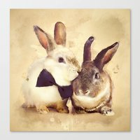 Bunnies Are In Love Canvas Print
