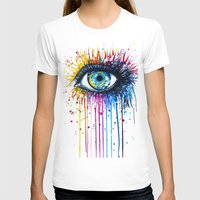"eye T-shirts featuring ""Rainbow Eye"" by PeeGeeArts"