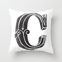 C - The Third Letter Of … Throw Pillow