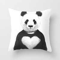 Lovely panda Throw Pillow