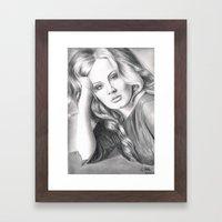 Adele Framed Art Print