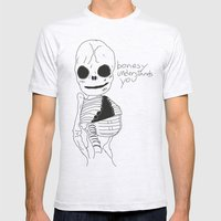 bonesy understands you  Mens Fitted Tee Ash Grey SMALL