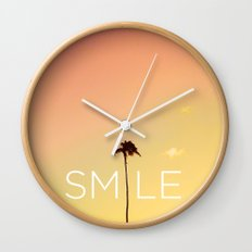 Palm Tree Smile new Hue Wall Clock