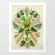 Tropical Symmetry – Ol… Art Print