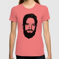 RossFace Womens Fitted Tee Pomegranate SMALL