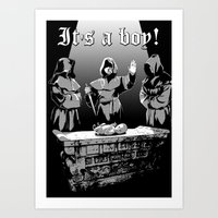 It's A Boy! Art Print