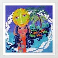 Luna And Me, Dream Of Th… Art Print