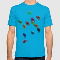 Swim On By Mens Fitted Tee Teal SMALL