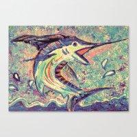 Jumping Marlin Canvas Print