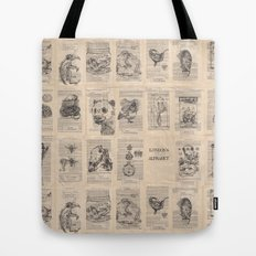 The Dead Alphabet Tote Bag