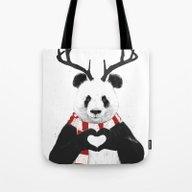Xmas Panda Tote Bag