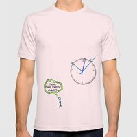 Shattered Frozen Time Mens Fitted Tee Light Pink SMALL
