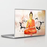 buddha Laptop & iPad Skins featuring Buddha by Olga Whass