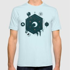 Crescent Mens Fitted Tee Light Blue SMALL