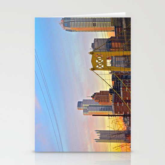 Sunset from the Southside Stationery Card