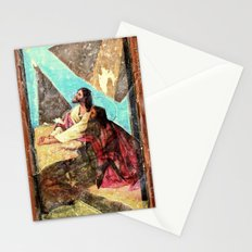 double jesus Stationery Cards