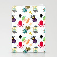 the crew ( pattern version ) Stationery Cards