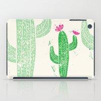Linocut Cacti #2 iPad Case