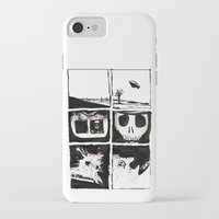 death iPhone & iPod Cases featuring Death by Lee Grace Illustration