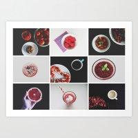 Morning stories - RED set Art Print