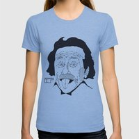 Albert Einstein Womens Fitted Tee Athletic Blue SMALL
