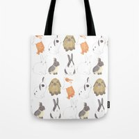 Rabbits And Bunnies Tote Bag