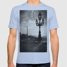Mysterious Paris Mens Fitted Tee Athletic Blue SMALL