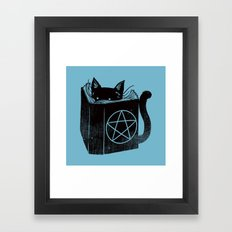 WITCHCRAFT CAT (Blue) Framed Art Print