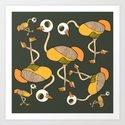 keep your head up - ostrich 3 Art Print