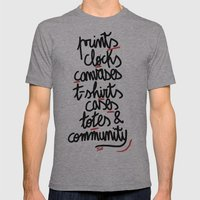 What Is All About Mens Fitted Tee Athletic Grey SMALL