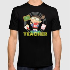 teacher SMALL Mens Fitted Tee Black