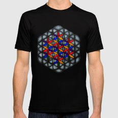 Flower of Life Mens Fitted Tee Black SMALL