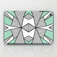 Triangle Tribal Mint iPad Case
