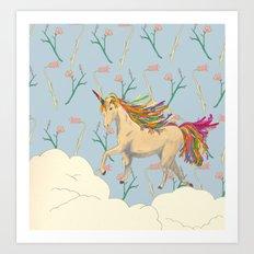 rainbow unicon Art Print