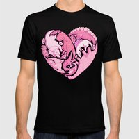 Loveasaurus Mens Fitted Tee Black SMALL