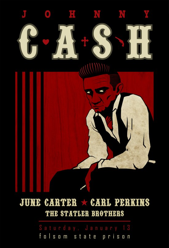 Cash Live at Folsom Prison Art Print