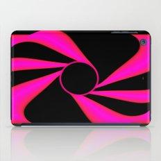 Abstract. Pink+Black Dot. iPad Case