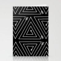 Arrow Triangle  Stationery Cards