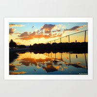 Uncaged Sunset Art Print